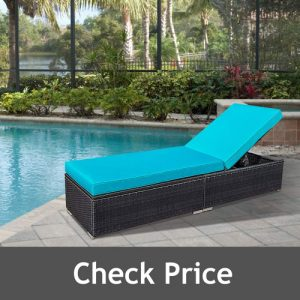 Glowin Outdoor Patio Chaise Lounge Chair