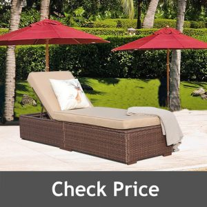 Patiorama Outdoor Pool Chaise Lounge Chair