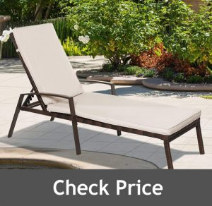 Tangkula Set of 2 Outdoor Lounge Chair